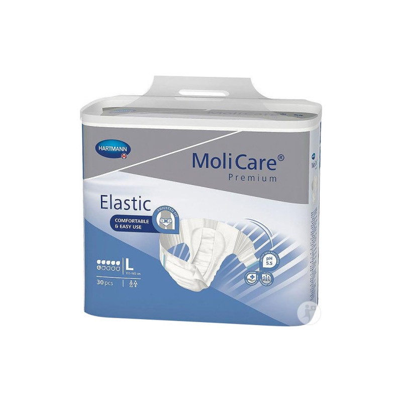 Molicare Premium Elastic taille Large 6 gouttes www.vivamedical.be