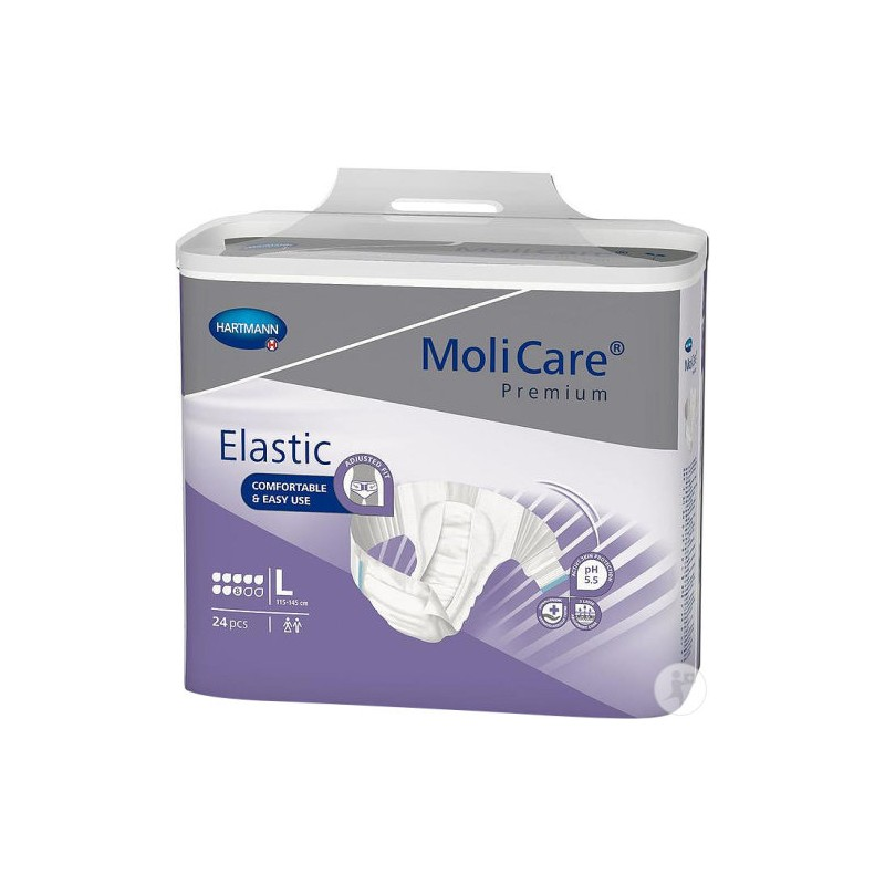 Molicare Premium Elastic taille Large 8 goutteswww.vivamedical.be